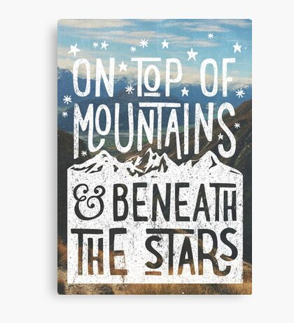 On Top Of Mountains Canvas Print