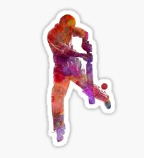 Cricket player batsman silhoutte Sticker
