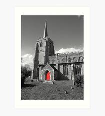 Red Door, St Mary's, Bramford Art Print