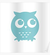 Little Blue Owl Poster