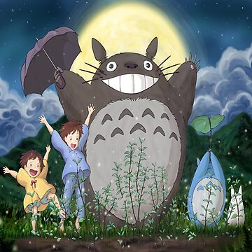 Totoro and family by Downyart