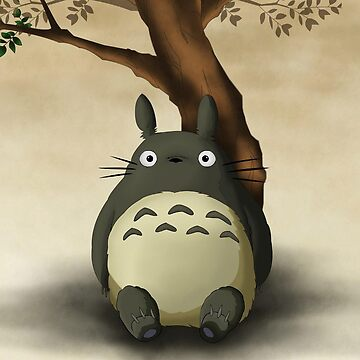 Totoro alone by Downyart