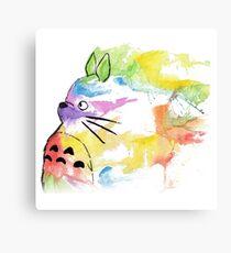Rainbow  totoro Canvas Print