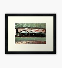 oblivion wheel old car Framed Print