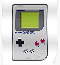 Game Boy Pixel Art Poster