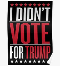 I didn't vote for trump Poster