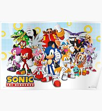 Sonic Characters Poster