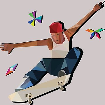 Low Poly Skater by Eveins