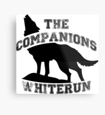 The companions of whiterun - Black Metal Print