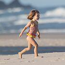 Girl On A Beach by byronbackyard