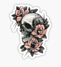 Skull and Roses Sticker
