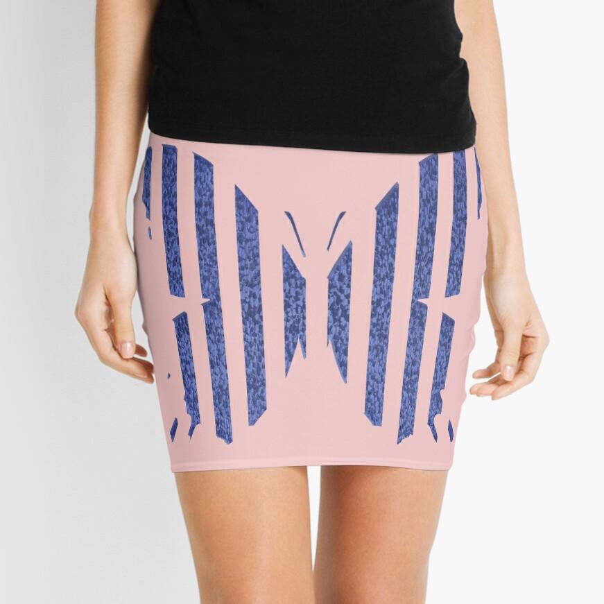 Stylized butterfly Mini Skirt