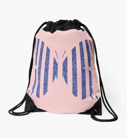 Stylized butterfly Drawstring Bag