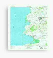 USGS TOPO Map Puerto Rico puerto real pr histmap Canvas Print