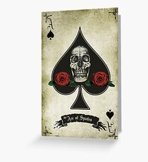 The Ace of Spades Greeting Card