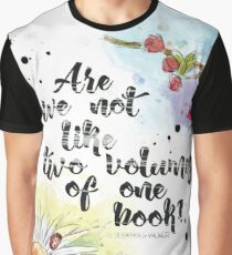 Two Volumes of One Book Graphic T-Shirt