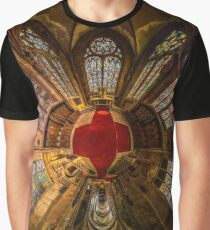 Leaded panes of Sainte George church of Selestat, little planet panoramic effect, space curvature Graphic T-Shirt