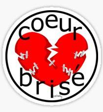 coeur brise logo Sticker