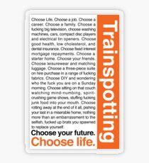 Wähle das Leben. Transparenter Sticker
