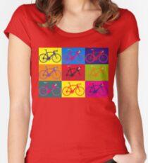 Bike Andy Warhol Pop Art Women's Fitted Scoop T-Shirt