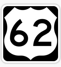 US Route 62 Sign, USA Sticker