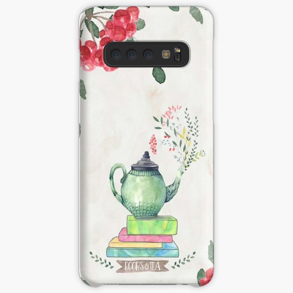 Books & Tea Watercolor Case & Skin for Samsung Galaxy