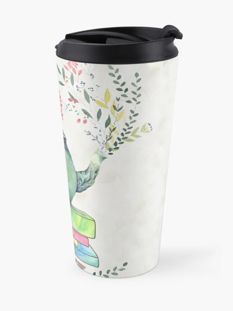 Alternate view of Books & Tea Watercolor Travel Mug