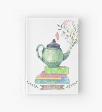 Books & Tea Watercolor Hardcover Journal