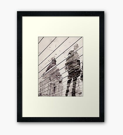 Rainy Day on the Promenade (Man only) Framed Print