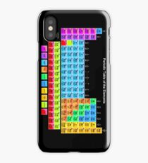 Vibrant Color Periodic Table on Black iPhone Case/Skin
