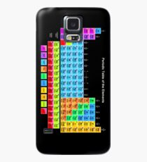 Vibrant Color Periodic Table on Black Case/Skin for Samsung Galaxy