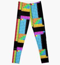 Vibrant Color Periodic Table on Black Leggings