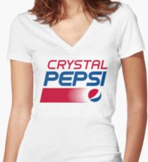 Pepsi Crystal Women's Fitted V-Neck T-Shirt