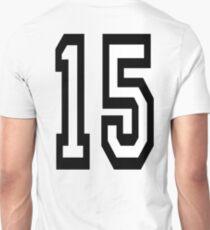 15, TEAM SPORTS, NUMBER 15, FIFTEEN, FIFTEENTH, Competition,  T-Shirt