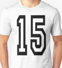 15, TEAM SPORTS, NUMBER 15, FIFTEEN, FIFTEENTH, Competition,  Slim Fit T-Shirt