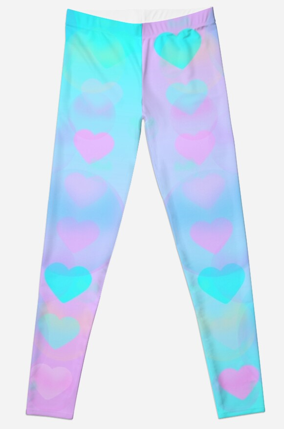 'Gradient Love - Experimental Bubble print' Leggings by fairyspace