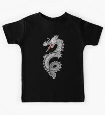 Dragon, Snake, Tattoo, Symbol, Chinese, Oriental, Far East, on Black Kids Clothes