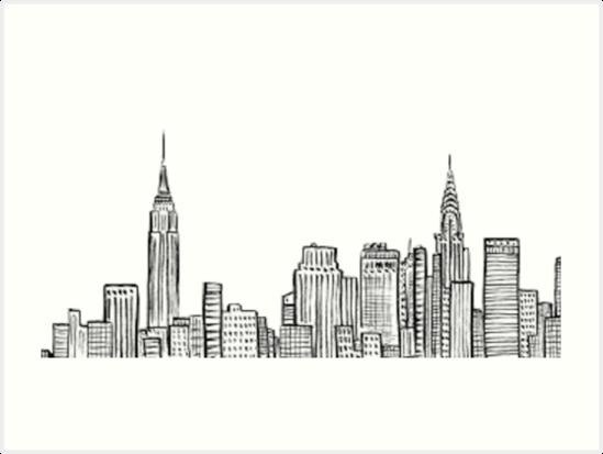 Skyline der Stadt von hcross214