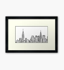 City skyline Framed Print