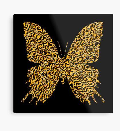 Golden butterfly Metal Print