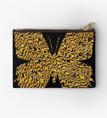 Golden butterfly Zipper Pouch