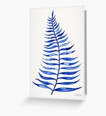Navy Palm Leaf Greeting Card