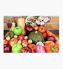 Vegetables and Fruits. Photographic Print