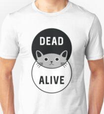 Camiseta unisex El gato de Schrodinger: ¡muerto o vivo!