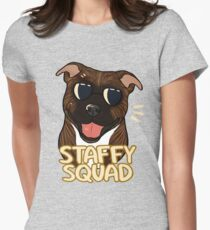 STAFFY SQUAD (brindle) Womens Fitted T-Shirt