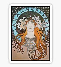 Art Nouveau Sarah with Lilies Sticker