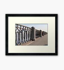 cast iron fence promenade Framed Print