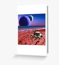 Mars Beach Greeting Card