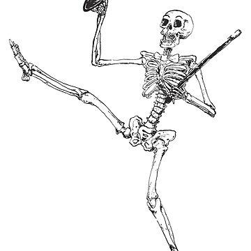Depression Skeleton - Showtime! - Original by cicadahaus