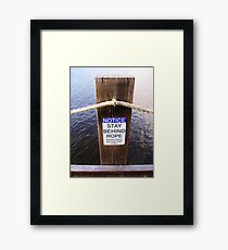 Obviously! Framed Print